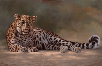 Claire Naylor - LEOPARD TO A LOVESONG - GICLEE - 24 X 36