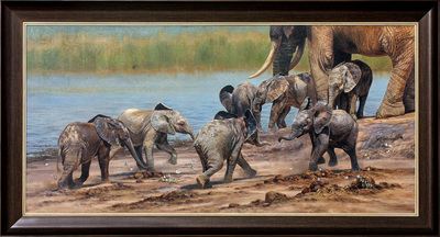 David Langmead - PLAYGROUP - OIL ON CANVAS - 30.5 X 63