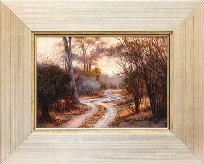 David Langmead - ENDLESS ROAD - OIL ON CANVAS - 9 3/4 X 14