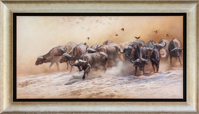 David Langmead - ADVANCE PARTY - OIL ON CANVAS - 19 3/4 X 33 3/4
