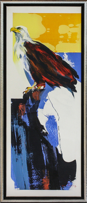 Derric van Rensburg - ON THE LOOKOUT - ACRYLIC ON CANVAS - 54 X 21