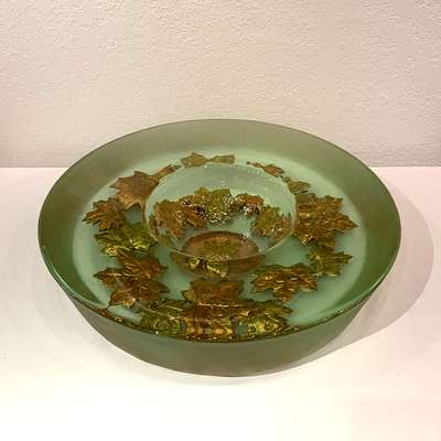 George Bucquet - GARLAND BOWL - GLASS - 16 X 4
