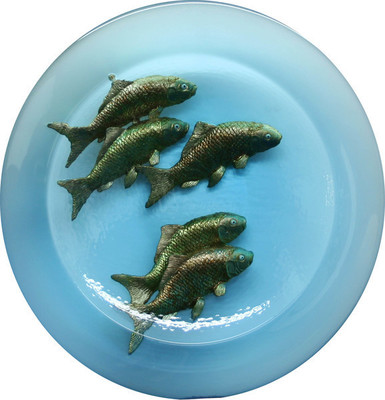 George Bucquet - FISH BOWL - GLASS - 20 X 4