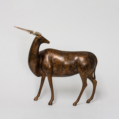 "Loet Vanderveen - ELAND (128) - BRONZE - 14 X 12 - Free Shipping Anywhere In The USA! <br> <br>These sculptures are bronze limited editions <br> <br><a href=""/[sculpture]/[available]-[patina]-[swatches]/"">More than 30 patinas are available</a>. Available patinas are indicated as IN STOCK. All others must be ordered. Please call the galleries with special order details if not in stock."