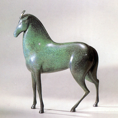 "Loet Vanderveen - HORSE, NEW (131) - BRONZE - 12 X 13 - Free Shipping Anywhere In The USA! <br> <br>These sculptures are bronze limited editions <br> <br><a href=""/[sculpture]/[available]-[patina]-[swatches]/"">More than 30 patinas are available</a>. Available patinas are indicated as IN STOCK. All others must be ordered. Please call the galleries with special order details if not in stock."
