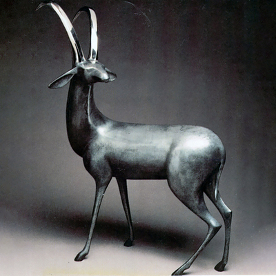 "Loet Vanderveen - ANTELOPE (140) - BRONZE - 18 X 25 - Free Shipping Anywhere In The USA! <br> <br>These sculptures are bronze limited editions <br> <br><a href=""/[sculpture]/[available]-[patina]-[swatches]/"">More than 30 patinas are available</a>. Available patinas are indicated as IN STOCK. All others must be ordered. Please call the galleries with special order details if not in stock."