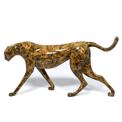 "Loet Vanderveen - CHEETAH (147J) - BRONZE - 11 X 5 X 6.5 - Free Shipping Anywhere In The USA! <br> <br>These sculptures are bronze limited editions <br> <br><a href=""/[sculpture]/[available]-[patina]-[swatches]/"">More than 30 patinas are available</a>. Available patinas are indicated as IN STOCK. All others must be ordered. Please call the galleries with special order details if not in stock."