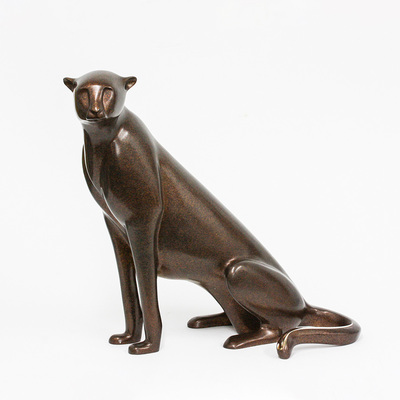"Loet Vanderveen - CHEETAH, SEATED (153) - BRONZE - 20 X 12 X 20 - Free Shipping Anywhere In The USA! <br> <br>These sculptures are bronze limited editions <br> <br><a href=""/[sculpture]/[available]-[patina]-[swatches]/"">More than 30 patinas are available</a>. Available patinas are indicated as IN STOCK. All others must be ordered. Please call the galleries with special order details if not in stock."