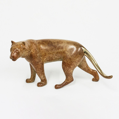 "Loet Vanderveen - TIGER (164) - BRONZE - 11 X 6 - Free Shipping Anywhere In The USA! <br> <br>These sculptures are bronze limited editions <br> <br><a href=""/[sculpture]/[available]-[patina]-[swatches]/"">More than 30 patinas are available</a>. Available patinas are indicated as IN STOCK. All others must be ordered. Please call the galleries with special order details if not in stock."