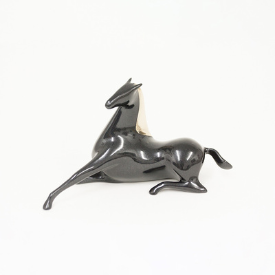 "Loet Vanderveen - HORSE, RECLINING (167) - BRONZE - 8 X 4 - Free Shipping Anywhere In The USA! <br> <br>These sculptures are bronze limited editions <br> <br><a href=""/[sculpture]/[available]-[patina]-[swatches]/"">More than 30 patinas are available</a>. Available patinas are indicated as IN STOCK. All others must be ordered. Please call the galleries with special order details if not in stock."