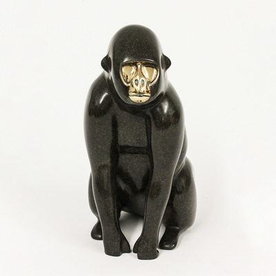 "Loet Vanderveen - GORILLA (177) - BRONZE - 5 X 5 X 9 - Free Shipping Anywhere In The USA! <br> <br>These sculptures are bronze limited editions <br> <br><a href=""/[sculpture]/[available]-[patina]-[swatches]/"">More than 30 patinas are available</a>. Available patinas are indicated as IN STOCK. All others must be ordered. Please call the galleries with special order details if not in stock."