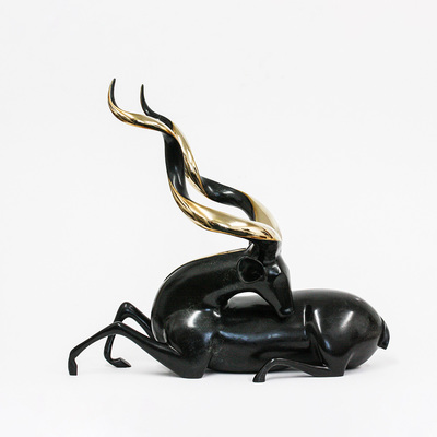 "Loet Vanderveen - KUDU, GREATER (195) - BRONZE - 27 X 16 X 24 - Free Shipping Anywhere In The USA! <br> <br>These sculptures are bronze limited editions <br> <br><a href=""/[sculpture]/[available]-[patina]-[swatches]/"">More than 30 patinas are available</a>. Available patinas are indicated as IN STOCK. All others must be ordered. Please call the galleries with special order details if not in stock."