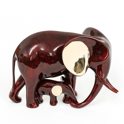 "Loet Vanderveen - ELEPHANT & BABY (198) - BRONZE - 10 X 7 - Free Shipping Anywhere In The USA! <br> <br>These sculptures are bronze limited editions <br> <br><a href=""/[sculpture]/[available]-[patina]-[swatches]/"">More than 30 patinas are available</a>. Available patinas are indicated as IN STOCK. All others must be ordered. Please call the galleries with special order details if not in stock."