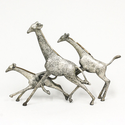 "Loet Vanderveen - GIRAFFES, RUNNING (337) - BRONZE - 18 X 4 X 13 - Free Shipping Anywhere In The USA! <br> <br>These sculptures are bronze limited editions <br> <br><a href=""/[sculpture]/[available]-[patina]-[swatches]/"">More than 30 patinas are available</a>. Available patinas are indicated as IN STOCK. All others must be ordered. Please call the galleries with special order details if not in stock."