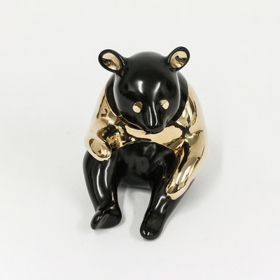 "Loet Vanderveen - PANDA, CLASSIC (343) - BRONZE - 4 X 4 - Free Shipping Anywhere In The USA! <br> <br>These sculptures are bronze limited editions <br> <br><a href=""/[sculpture]/[available]-[patina]-[swatches]/"">More than 30 patinas are available</a>. Available patinas are indicated as IN STOCK. All others must be ordered. Please call the galleries with special order details if not in stock."