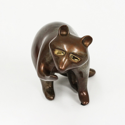 "Loet Vanderveen - RACCOON, CLASSIC (356) - BRONZE - 6 X 3.5 - Free Shipping Anywhere In The USA! <br> <br>These sculptures are bronze limited editions <br> <br><a href=""/[sculpture]/[available]-[patina]-[swatches]/"">More than 30 patinas are available</a>. Available patinas are indicated as IN STOCK. All others must be ordered. Please call the galleries with special order details if not in stock."