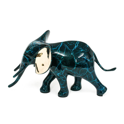 Loet Vanderveen - ELEPHANT, ROYAL (363) - BRONZE - 8.5 X 3.5 X 4.5 - Free Shipping Anywhere In The USA!