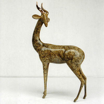 "Loet Vanderveen - GERENUK, STANDING (365) - BRONZE - 7 X 3 X 12 - Free Shipping Anywhere In The USA! <br> <br>These sculptures are bronze limited editions <br> <br><a href=""/[sculpture]/[available]-[patina]-[swatches]/"">More than 30 patinas are available</a>. Available patinas are indicated as IN STOCK. All others must be ordered. Please call the galleries with special order details if not in stock."