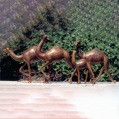 "Loet Vanderveen - CAMEL CARAVAN, SMALL (370) - BRONZE - 20 X 3.5 X 9 - Free Shipping Anywhere In The USA! <br> <br>These sculptures are bronze limited editions <br> <br><a href=""/[sculpture]/[available]-[patina]-[swatches]/"">More than 30 patinas are available</a>. Available patinas are indicated as IN STOCK. All others must be ordered. Please call the galleries with special order details if not in stock."