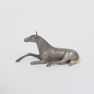 "Loet Vanderveen - HORSE, SMALL FOAL (389) - BRONZE - 8 X 4 - Free Shipping Anywhere In The USA! <br> <br>These sculptures are bronze limited editions <br> <br><a href=""/[sculpture]/[available]-[patina]-[swatches]/"">More than 30 patinas are available</a>. Available patinas are indicated as IN STOCK. All others must be ordered. Please call the galleries with special order details if not in stock."