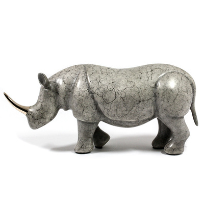 "Loet Vanderveen - RHINO, NOAH'S (405) - BRONZE - 7.25 X 3 - Free Shipping Anywhere In The USA! <br> <br>These sculptures are bronze limited editions <br> <br><a href=""/[sculpture]/[available]-[patina]-[swatches]/"">More than 30 patinas are available</a>. Available patinas are indicated as IN STOCK. All others must be ordered. Please call the galleries with special order details if not in stock."