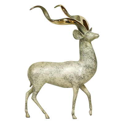 "Loet Vanderveen - KUDU, STANDING (417) - BRONZE - 17 X 24 - Free Shipping Anywhere In The USA! <br> <br>These sculptures are bronze limited editions <br> <br><a href=""/[sculpture]/[available]-[patina]-[swatches]/"">More than 30 patinas are available</a>. Available patinas are indicated as IN STOCK. All others must be ordered. Please call the galleries with special order details if not in stock."