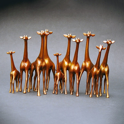 "Loet Vanderveen - GIRAFFES, ALERT-LARGE (457) - BRONZE - 15.5 X 8 X 9.75 - Free Shipping Anywhere In The USA! <br> <br>These sculptures are bronze limited editions <br> <br><a href=""/[sculpture]/[available]-[patina]-[swatches]/"">More than 30 patinas are available</a>. Available patinas are indicated as IN STOCK. All others must be ordered. Please call the galleries with special order details if not in stock."