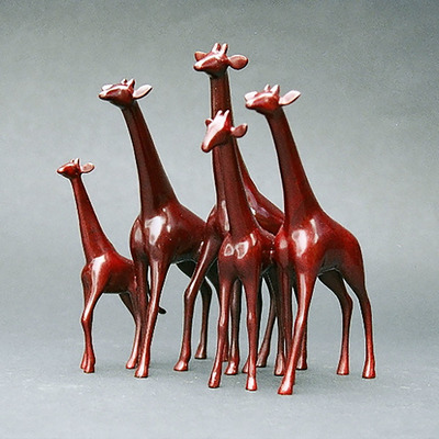 "Loet Vanderveen - GIRAFFES, ALERT-SMALL (458) - BRONZE - 7.25 X 6.5 X 9.75 - Free Shipping Anywhere In The USA! <br> <br>These sculptures are bronze limited editions <br> <br><a href=""/[sculpture]/[available]-[patina]-[swatches]/"">More than 30 patinas are available</a>. Available patinas are indicated as IN STOCK. All others must be ordered. Please call the galleries with special order details if not in stock."