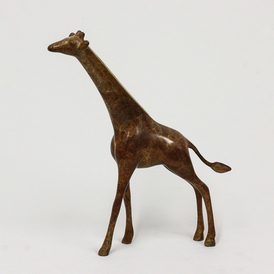 "Loet Vanderveen - GIRAFFE, SMALL STANDING (459) - BRONZE - 7.25 X 1.5 X 8.5 - Free Shipping Anywhere In The USA! <br> <br>These sculptures are bronze limited editions <br> <br><a href=""/[sculpture]/[available]-[patina]-[swatches]/"">More than 30 patinas are available</a>. Available patinas are indicated as IN STOCK. All others must be ordered. Please call the galleries with special order details if not in stock."