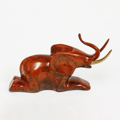 "Loet Vanderveen - ELEPHANT, SEATED JEWEL (482) - BRONZE - 5 X 3.5 - Free Shipping Anywhere In The USA! <br> <br>These sculptures are bronze limited editions <br> <br><a href=""/[sculpture]/[available]-[patina]-[swatches]/"">More than 30 patinas are available</a>. Available patinas are indicated as IN STOCK. All others must be ordered. Please call the galleries with special order details if not in stock."