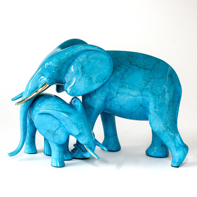 "Loet Vanderveen - ELEPHANTS, TENDER (529) - BRONZE - 10 X 5.5 X 6.25 - Free Shipping Anywhere In The USA! <br> <br>These sculptures are bronze limited editions <br> <br><a href=""/[sculpture]/[available]-[patina]-[swatches]/"">More than 30 patinas are available</a>. Available patinas are indicated as IN STOCK. All others must be ordered. Please call the galleries with special order details if not in stock."