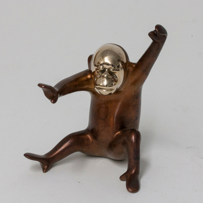 "Loet Vanderveen - ORANGUTAN, BABY (538) - BRONZE - 4 X 3.5 X 4.5 - Free Shipping Anywhere In The USA! <br> <br>These sculptures are bronze limited editions <br> <br><a href=""/[sculpture]/[available]-[patina]-[swatches]/"">More than 30 patinas are available</a>. Available patinas are indicated as IN STOCK. All others must be ordered. Please call the galleries with special order details if not in stock."