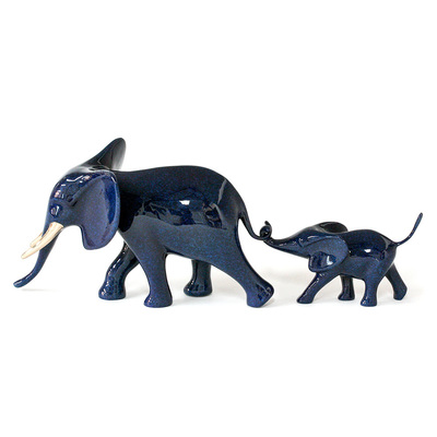 "Loet Vanderveen - ELEPHANT & BABY MARCHING (547) - BRONZE - 13 X 4.25 X 4.5 - Free Shipping Anywhere In The USA! <br> <br>These sculptures are bronze limited editions <br> <br><a href=""/[sculpture]/[available]-[patina]-[swatches]/"">More than 30 patinas are available</a>. Available patinas are indicated as IN STOCK. All others must be ordered. Please call the galleries with special order details if not in stock."