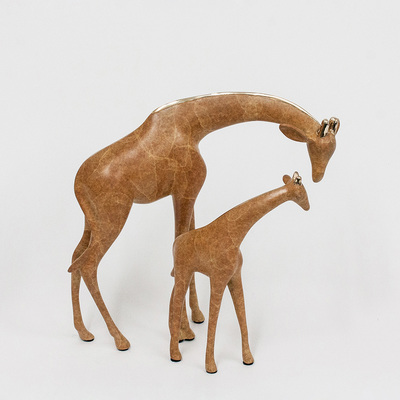 "Loet Vanderveen - GIRAFFE PAIR, SMALL (549) - BRONZE - 8.5 X 5 X 8 - Free Shipping Anywhere In The USA! <br> <br>These sculptures are bronze limited editions <br> <br><a href=""/[sculpture]/[available]-[patina]-[swatches]/"">More than 30 patinas are available</a>. Available patinas are indicated as IN STOCK. All others must be ordered. Please call the galleries with special order details if not in stock."