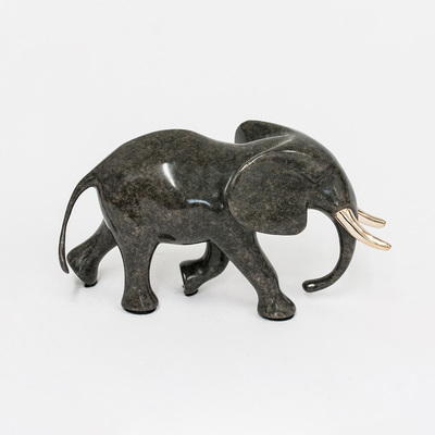"Loet Vanderveen - ELEPHANT, BULL (558) - BRONZE - Free Shipping Anywhere In The USA! <br> <br>These sculptures are bronze limited editions <br> <br><a href=""/[sculpture]/[available]-[patina]-[swatches]/"">More than 30 patinas are available</a>. Available patinas are indicated as IN STOCK. All others must be ordered. Please call the galleries with special order details if not in stock."