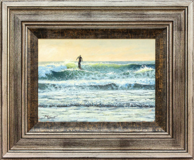 Tony Forrest - NEWQUAY SURFER - OIL - 14 X 10